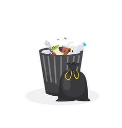 trash bin garbage container in vector image vector image