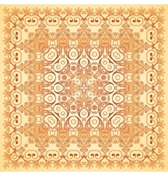 Vintage beige lacy ornate shawl pattern vector image vector image