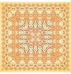 Vintage beige lacy ornate shawl pattern vector image
