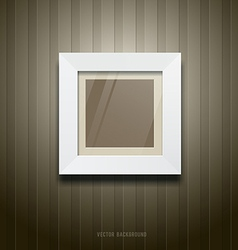 White frame square on wallpaper vector image vector image