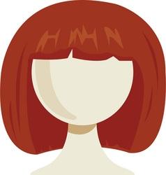Womans wig vector