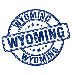 Wyoming stamp vector
