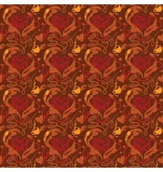 Seamless pattern i love coffee vector