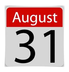 Simple Calendar Date January 30th vector image
