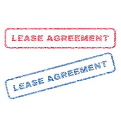 Lease agreement textile stamps vector