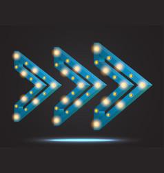 Retro light frame banner vector