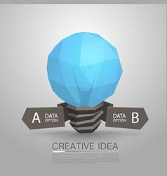 lamp polygonal 3d idea vector image