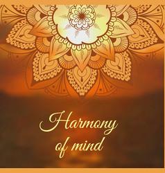 yoga banner with mandala vector image