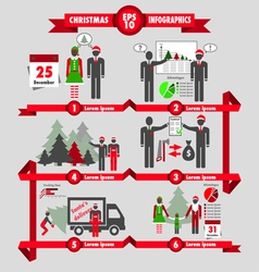Christmas and business infographic vector