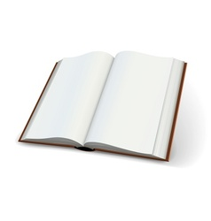 Blank pages of open books vector