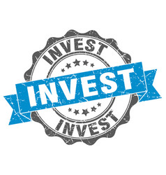 Invest stamp sign seal vector