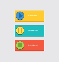 Music play buttons vector image