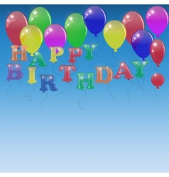 Background with letters of the balloons vector image