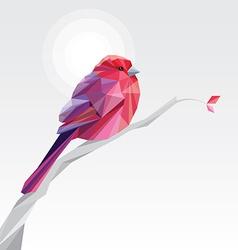 3d origami low polygon bird vector image vector image