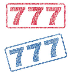 777 textile stamps vector image