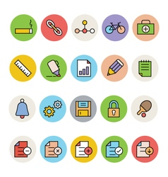 Basic colored icons 8 vector