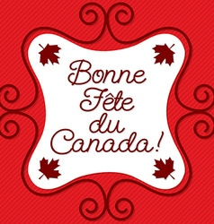 Doodle frame canada day maple leaf card in format vector