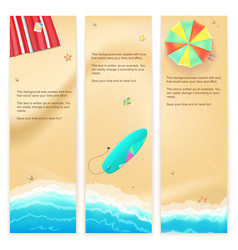 Set of travel banners vector image