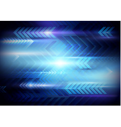 Abstract arrows motion technology background vector