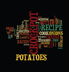 Au gratin potatoes crockpot recipe text vector