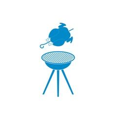 Barbecue chicken icon vector