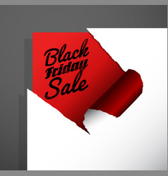 Black friday sale text uncovered from teared vector