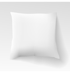 Blank white square pillow with shadow cushion vector