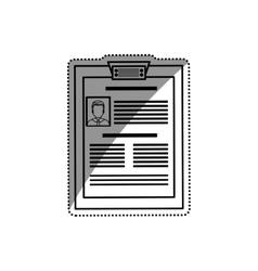 Business curriculum vitae vector image