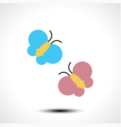 Butterflies icon vector