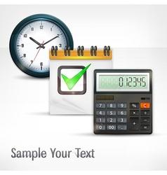 Calculator clock vector image vector image