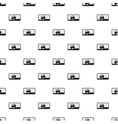 Car on the roadside pattern seamless vector
