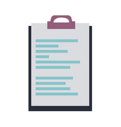 Clipboard document file office object vector