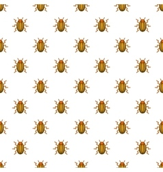 Colorado potato beetle pattern cartoon style vector