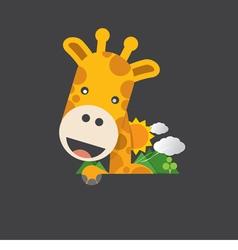 Cute Smiling Giraffe vector image