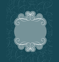 Decorative vintage frame and borders art on dark vector