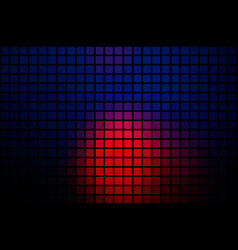 Deep blue and red abstract rounded mosaic vector