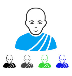 enjoy buddhist monk icon vector image vector image