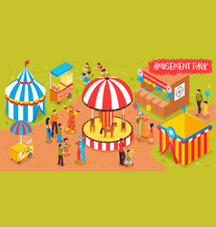 Family entertainment park background vector