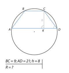 find the radius of the circle-02 vector image vector image