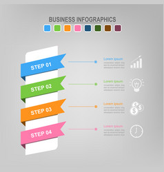 four ribbons for infographics business concept vector image vector image