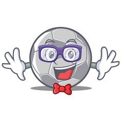 geek football character cartoon style vector image vector image
