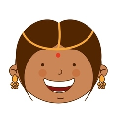 Hindu girl character icon vector