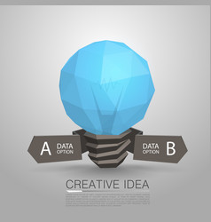 Lamp polygonal 3d idea vector
