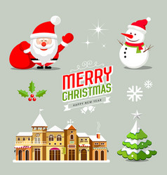 merry christmas collection design vector image vector image