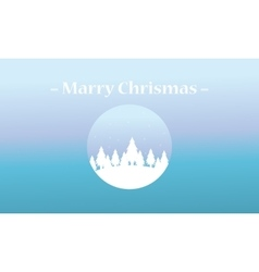 Merry christmas spruce of silhouettes vector