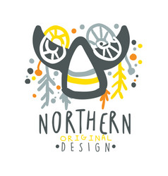 Nothern logo template original design badge for vector