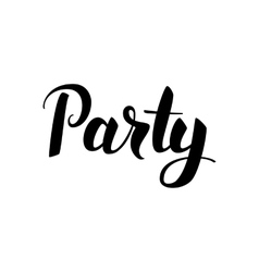 Party black lettering vector