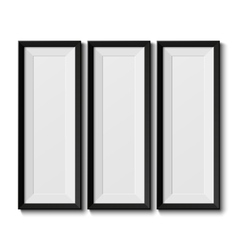 Realistic picture frames vector image