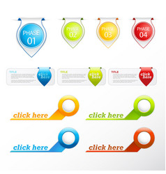 set of colorful labels and badges vector image vector image