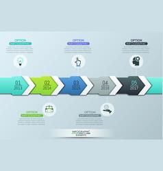 Unique infographic design template 5 multicolored vector